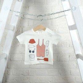 Tinycotton T-shirt z krótkim rękawkiem/ biały/ akcesoria plażowe