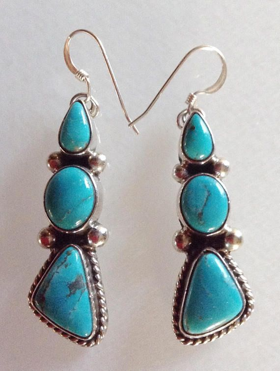 ce8bfef55 Native American Navajo Turquoise Sterling Silver Dangle   beautiful ...