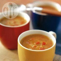 Recipe photo: Lightly spiced tomato and red lentil soup