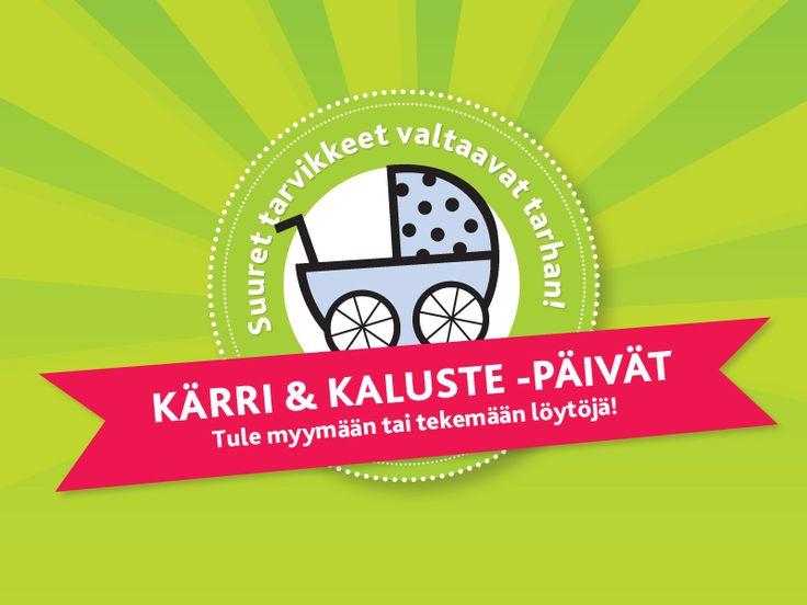 Isommat tuotteet vaihtavat omistajaa Kärri&Kaluste -päivillä.