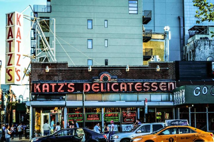 "Kat'z Delicatessen thanks to the ""When Harry met Sally"" movie. This is indeed where Meg Ryan faked her famous orgasm and the restaurant served as a film location many times after that."