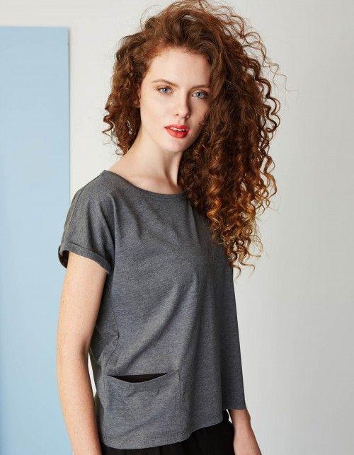 Kamila Gronner T-shirt z kieszonką