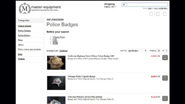 The FBI says that it shut down a German-based company selling fake U.S. local and federal law enforcement badges.