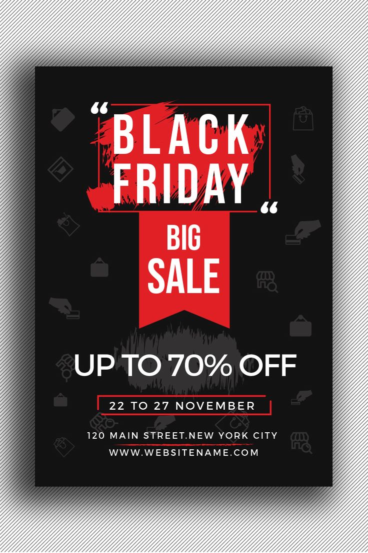 Black Friday Flyer Template Red And Black Color Theme In 2020 Black Friday Flyer Leaflet Design Template Flyer