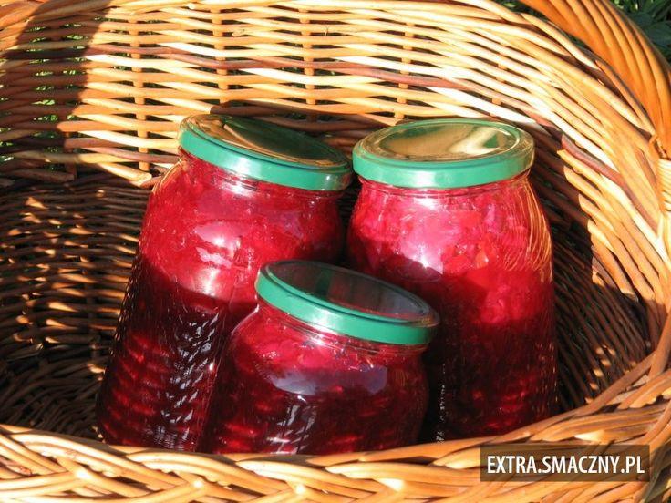 Sałatka z czerwonych buraków i ogórków
