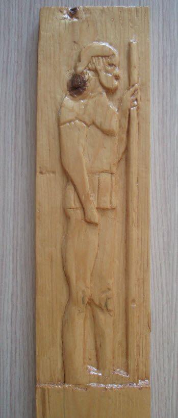 Wooden art soldier