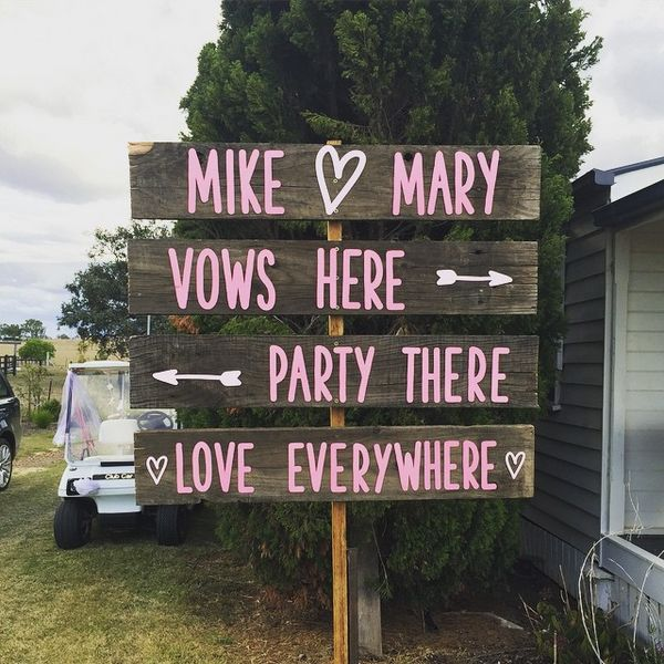 We laser cut these letters and shapes to create lovely little signs for a country wedding. We can do custom lettering/shapes for signs made for any occasion! www.thepaperempire.com.au