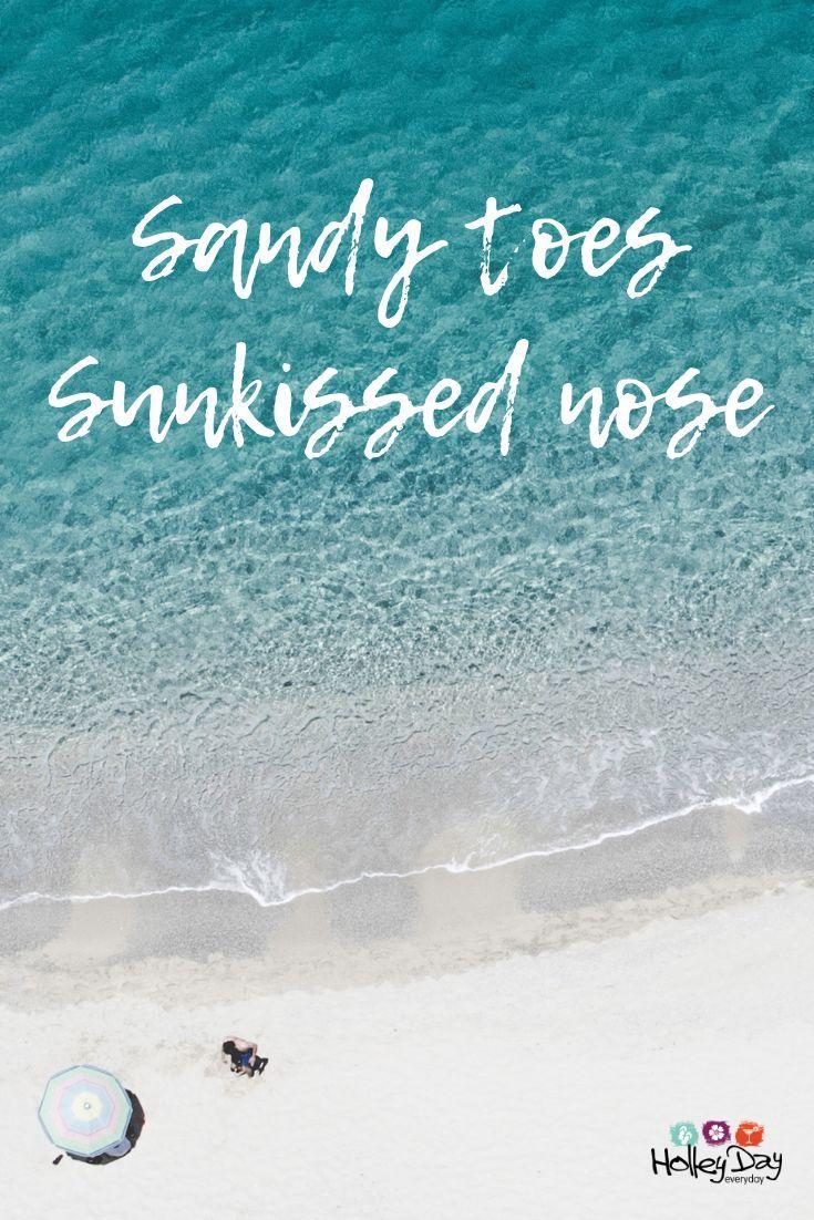 Sandy toes Sunkissed nose #weekendvibes #weekend #weekend ...