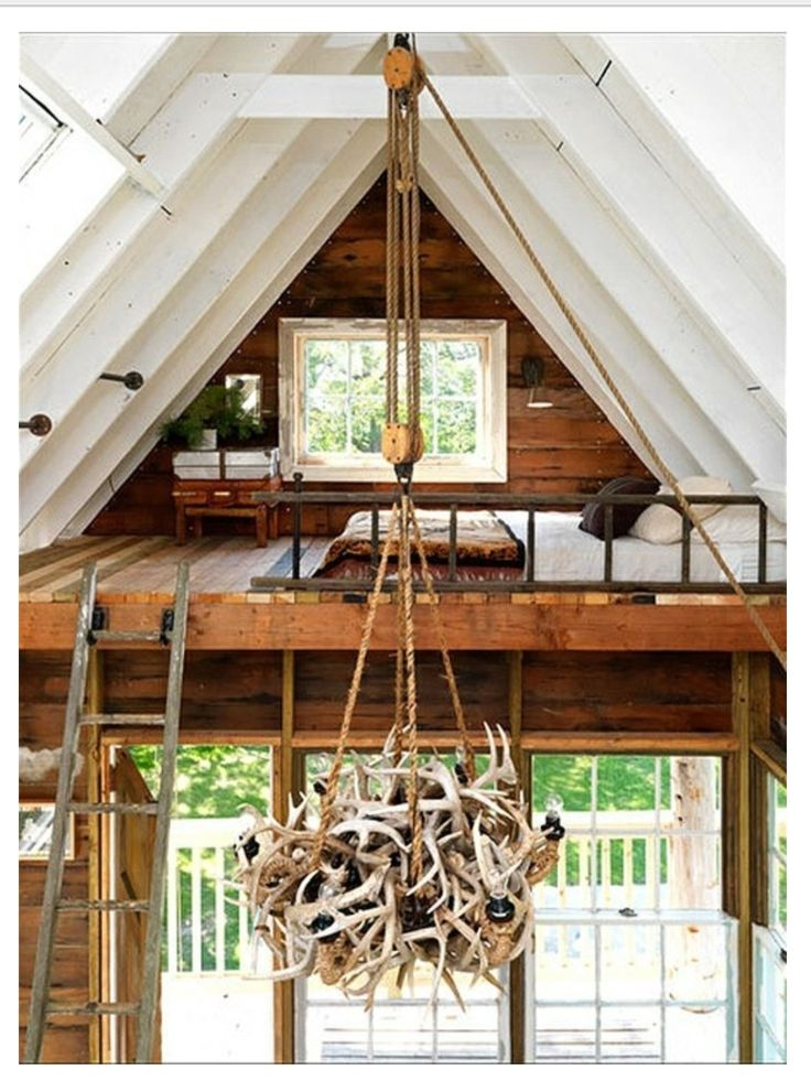 59 best cabin loft and railing ideas images on pinterest for Building a small cabin with loft