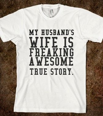 HUSBAND'S WIFE - glamfoxx.com - Skreened T-shirts, Organic Shirts, Hoodies, Kids Tees, Baby One-Pieces and Tote Bags