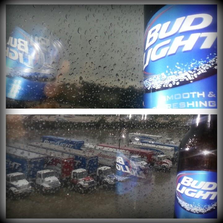 Dark, rainy day calls for a cold Bud Light!