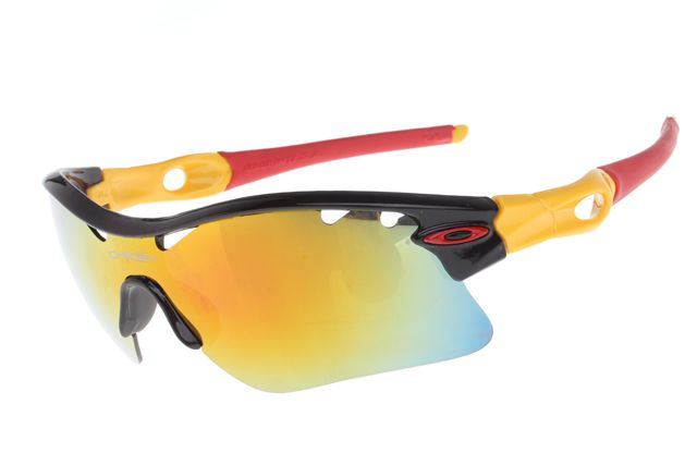 Oakley Radar Path Sunglasses Black Yellow Red Frame Colorful Lens 0950 - $25.00 : Ray-Ban? And Oakley? Sunglasses Online Store