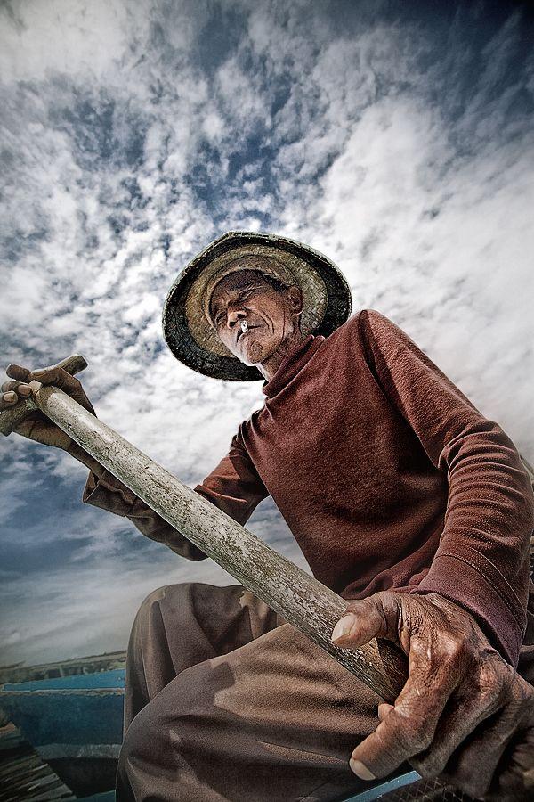 Old skipper in Jakarta, Indonesia