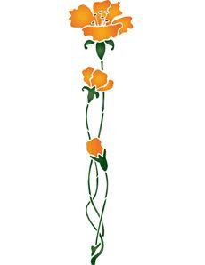 Желтые гвоздики (трафарет для декора)