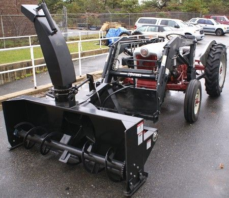 Front End Tractor Loader shown with Front Mounted Snowblower / Snowthrower