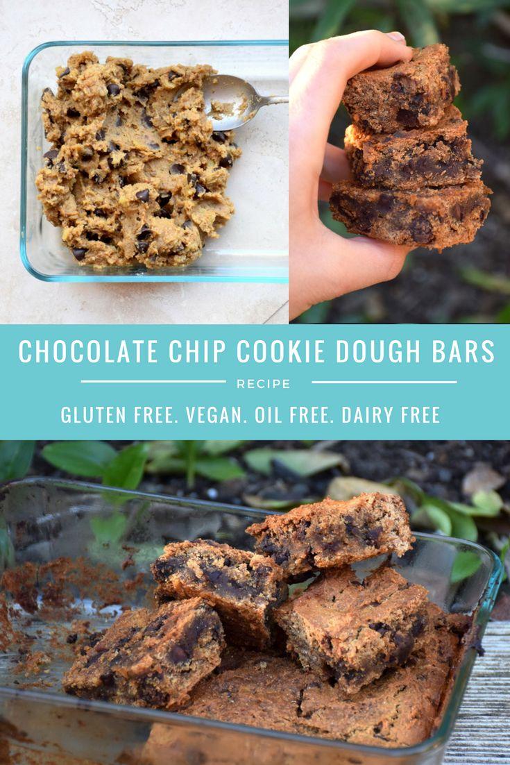 chocolate chip gluten free cookie dough bars recipe