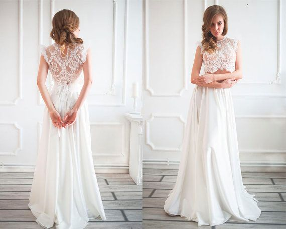 639 best Crop Top Two Piece Wedding Dresses images on ...