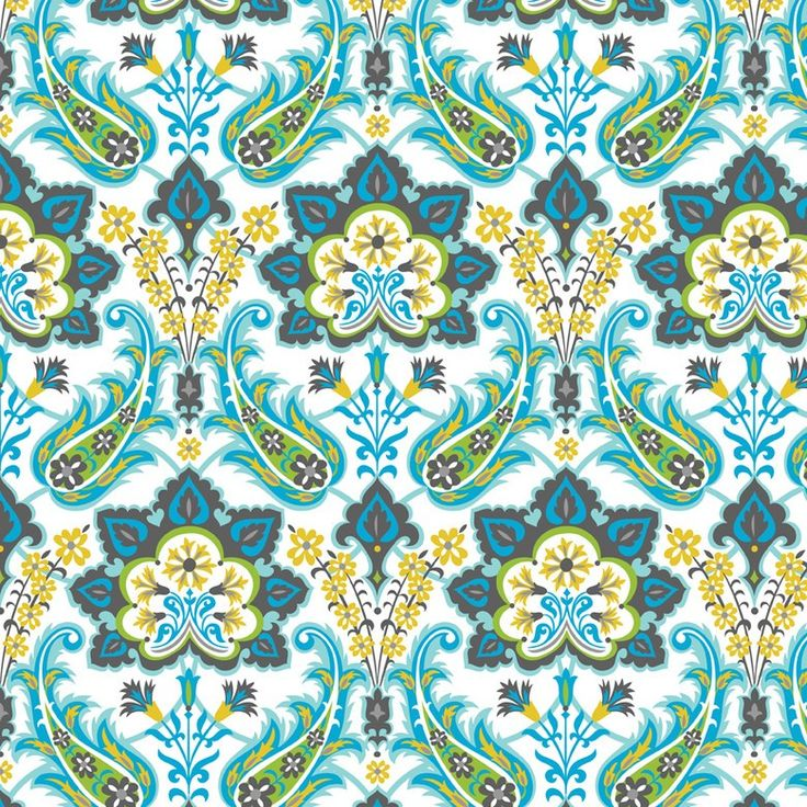 http://www.plushaddict.co.uk/blend-turkish-delight-blue.html Blend - Turkish Delight Blue - cotton fabric