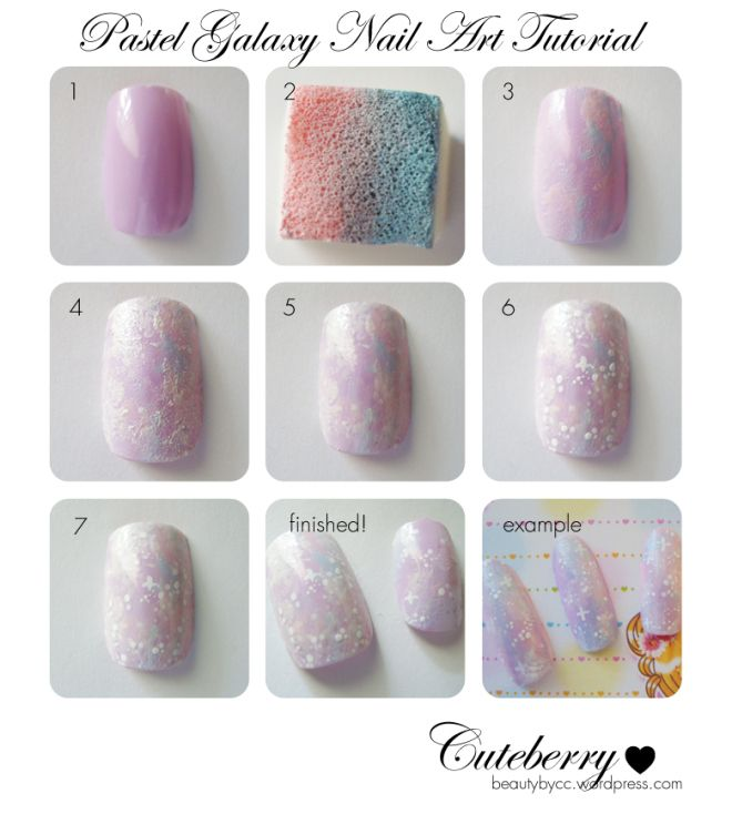 Galaxy Nails Tutorial: 83 Best Galaxy Images On Pinterest