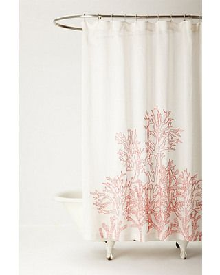1000 Ideas About Coral Shower Curtains On Pinterest Curtains Chevron Shower Curtains And