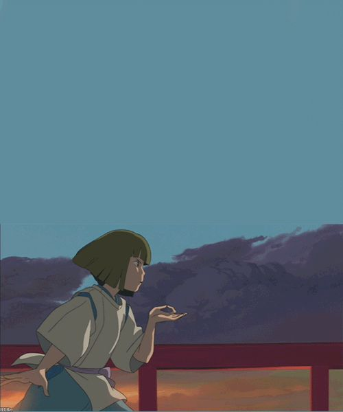 ghibli gif | anime studio ghibli spirited away ghibli haku animated GIF