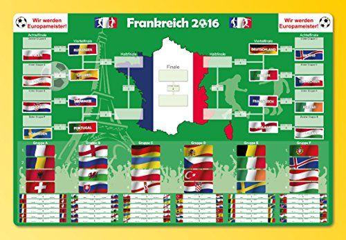 Fussball Europameisterschaft Frankreich 2016 SAMMLEROBJEKT MAGNETTAFEL Spielplan beschreibbar