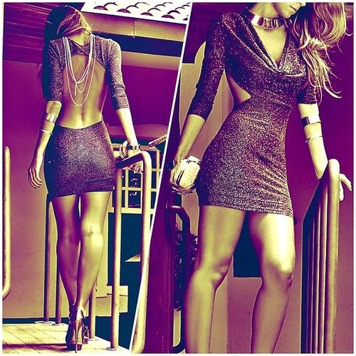 OH MY GOD!!! Ive been looking for an open back dress like this. Perf.