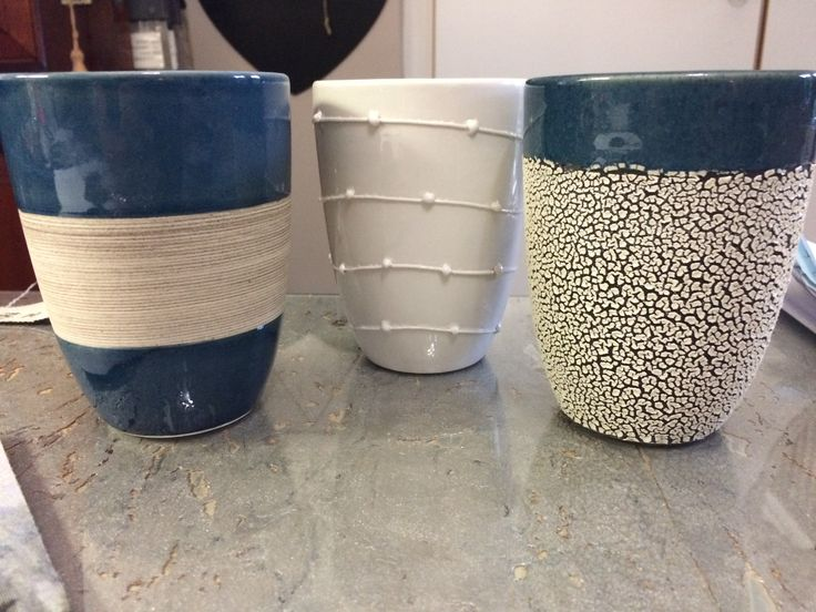 New Large Pots for Plants 1 x group of 3 1 x large