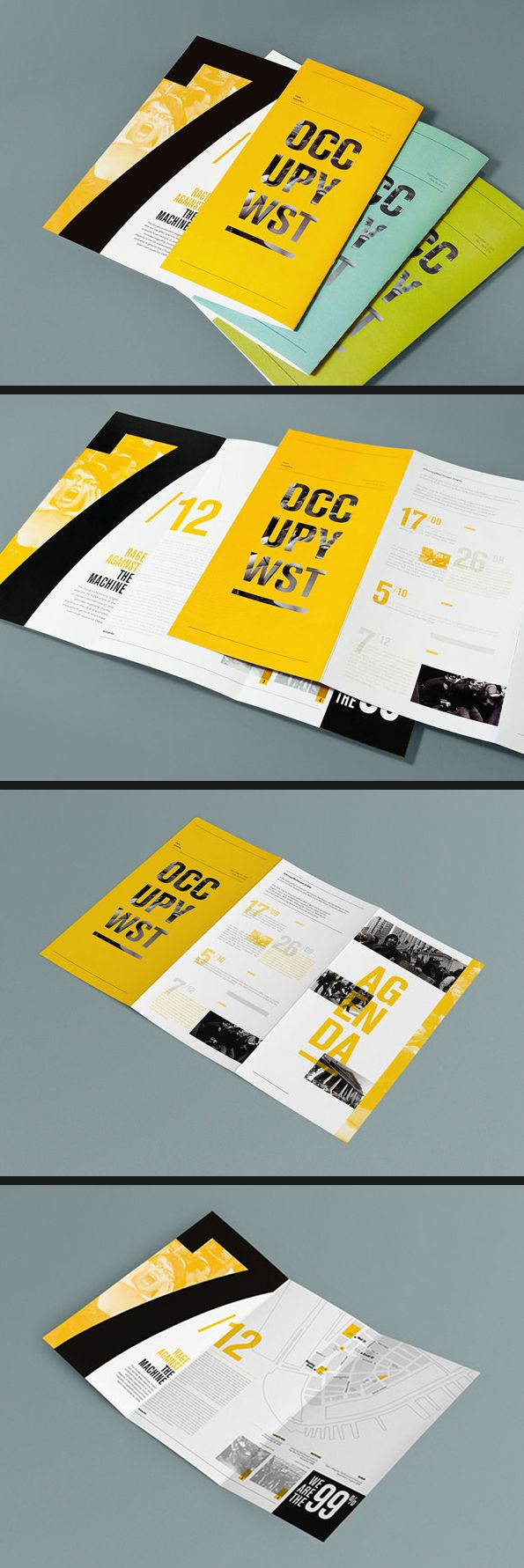 OCC UPY WST创意三折页设计
