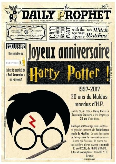 Unique Invitation Anniversaire Harry Potter Gratuite A Imprimer 90