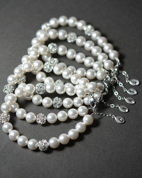 Bridesmaid bracelet  Bridesmaid Jewelry  by thefabbridaljewelry, $39.80