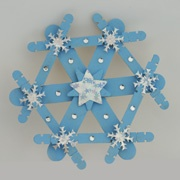 Craftstick Snowflake Winter craft for kids    Would be cute for the Sandy Hook project