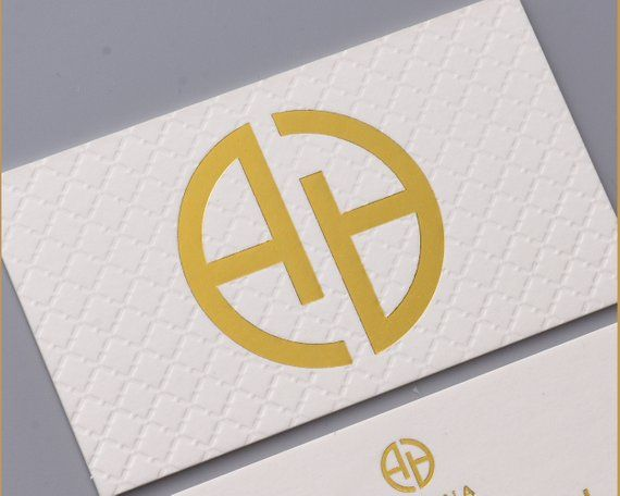 Luxury White Business Card Design And Print Letterpress Business Card And Blind Emboss Pattern Gold Foil Business Card Gold Foil Business Cards Letterpress Business Cards Foil Business Cards
