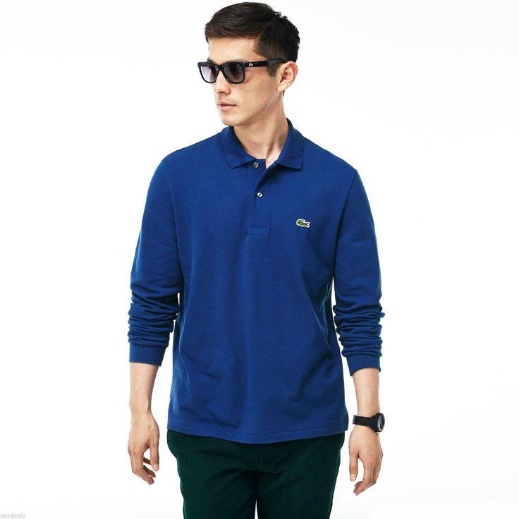 LACOSTE polo uomo manica lunga L1312 00 classic fit bordo' , oceano, cotone,   Abbigliamento e accessori, Uomo: abbigliamento, T-shirt   eBay!
