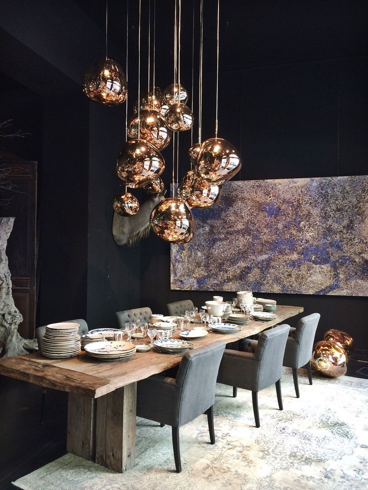 Tom Dixon Copper Shade from the Melt family Lamp  (free-form polycarbonate sculptural shade, squashed and stretched) : at Azul Tierra, Barcelona. Photo @patriziacasarini