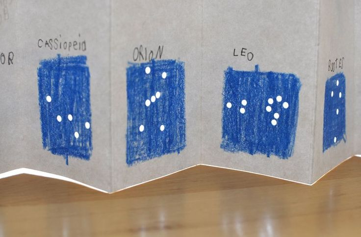 Make a folding constellation book. Use with Apologia astronomy. #homeschool science. Constellation activity