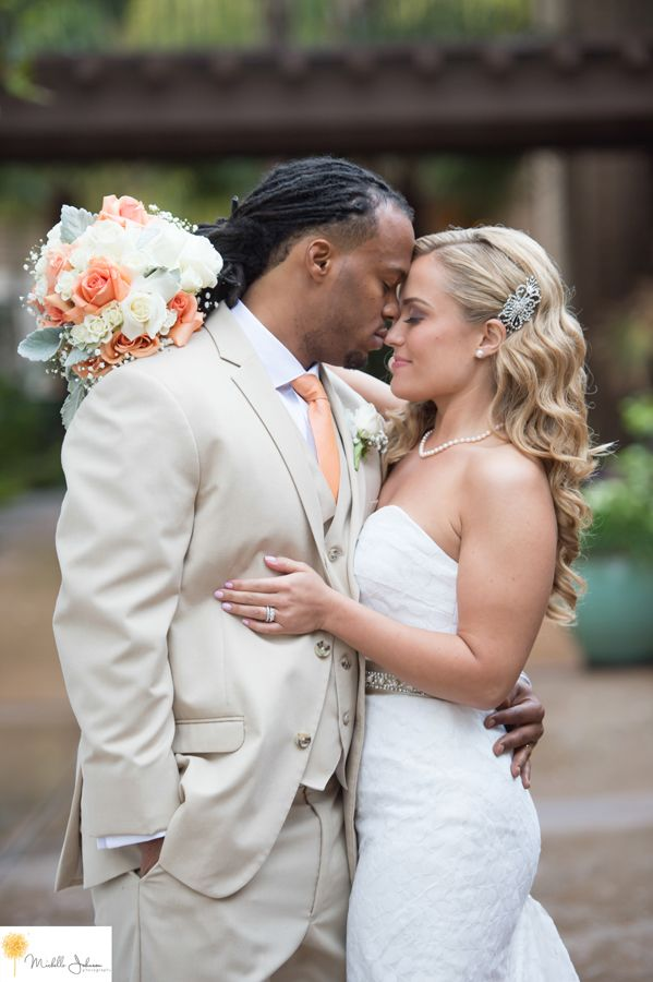 27doubletreebyhiltonclaremontweddingpictures Romantic Wedding Pose Inter racial marriage