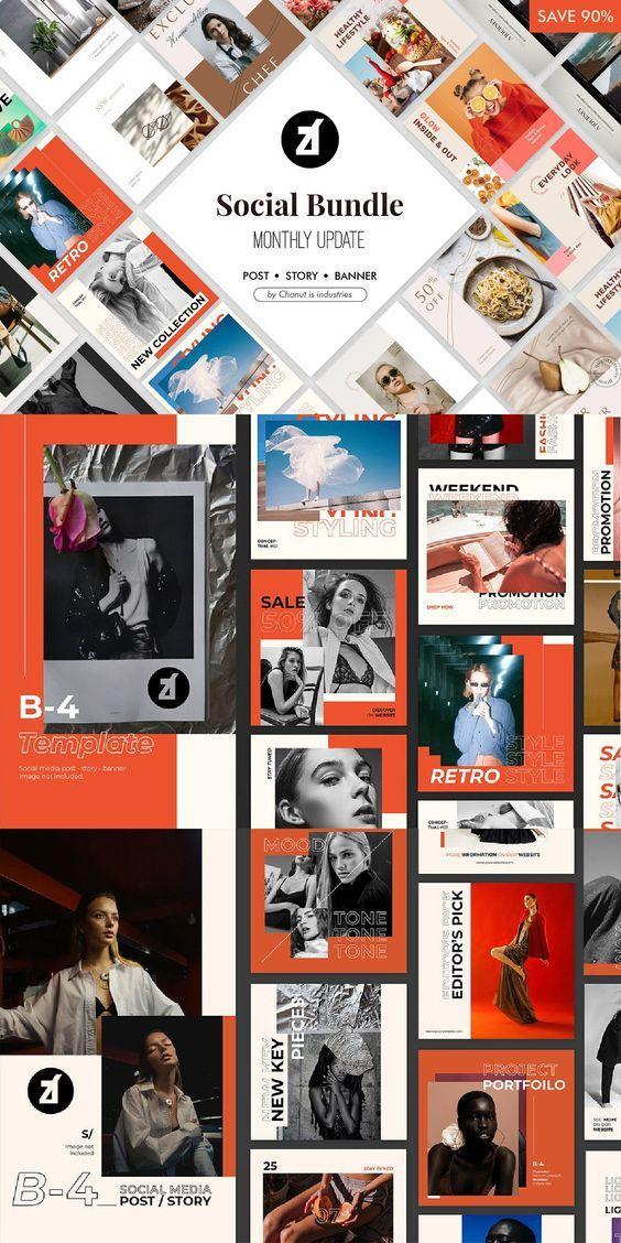 Chanutis bundle Templates pack V1 in 2020 Instagram