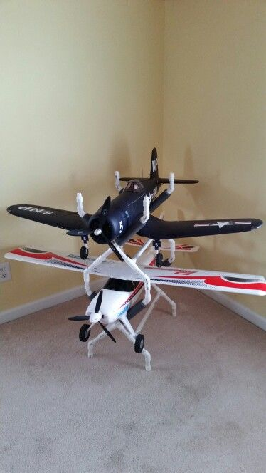 """Stackable PVC RC Airplane Stands - I used schedule 40 PVC with no glue.  Great for planes up to 1400mm (55"""" wingspan )"""