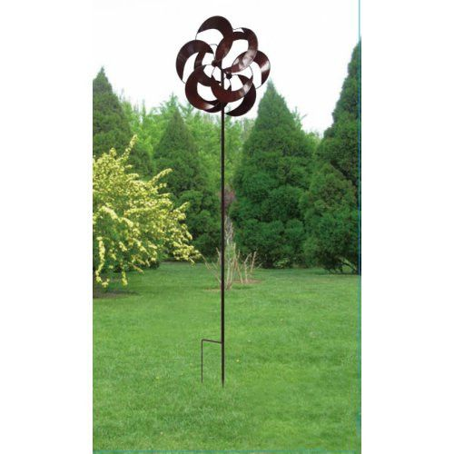 Twisted Leaves Garden Windmill   Fluttering Metallic Leaves Will Dance In  Your Garden All Summer Long With This Delightful Twisted Leaves Garden  Windmill.