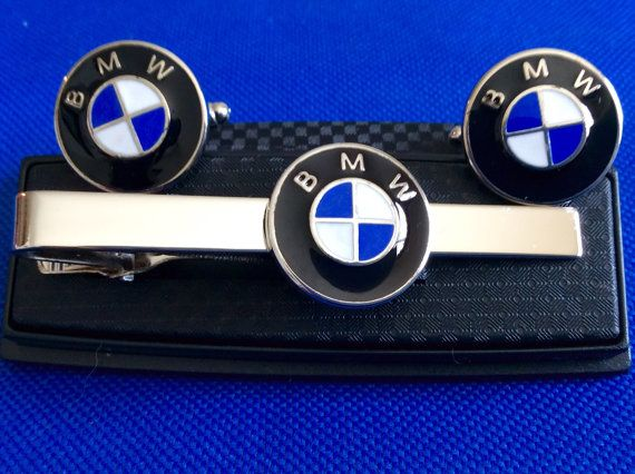 BMW Tie Clip with Matching Cufflinks by TAKALAP on Etsy
