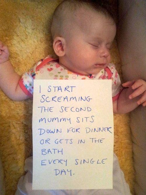 Ha ha ha! Baby shaming!