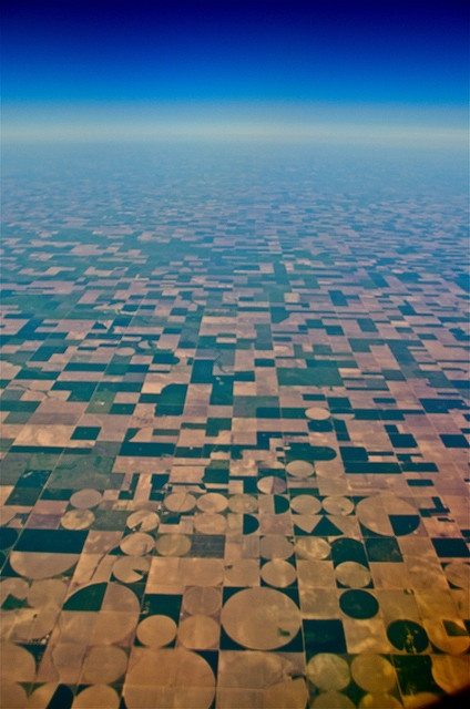 This was taken out the plane window on my cross country trip from NY several weeks ago...