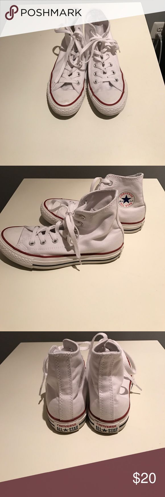Converse high top chuck taylors Only been worn a few times! Small scuff on the top of the shoe (barely visible). Great condition! Converse Shoes Sneakers