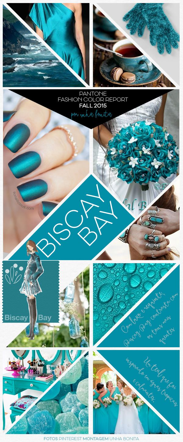 "Pantone Fashion ""Biscay Bay"" Color Report Fall 2015...2nd fave color of the season."