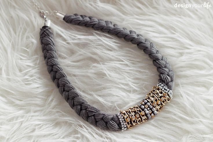 DIY braided necklace // DIY naszyjnik pleciony - Designyourlife.pl