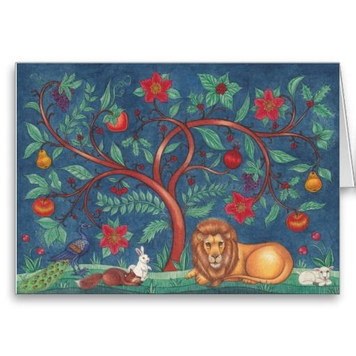 18 best lion and lamb christmas cards images on pinterest christmas tree of life greeting cards m4hsunfo