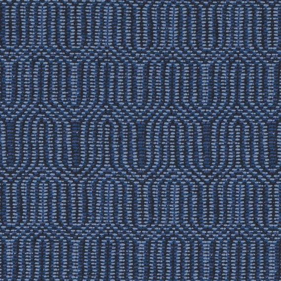 Peacock Blue Woven Upholstery Fabric for Furniture - Denim Blue Heavyweight Geometric Fabric for Sofas Kitchen Chairs Ottomans and Pillows