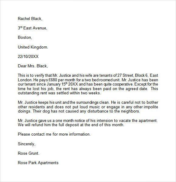 Tenant Reference Letter Sample Lovely Landlord Reference Letter