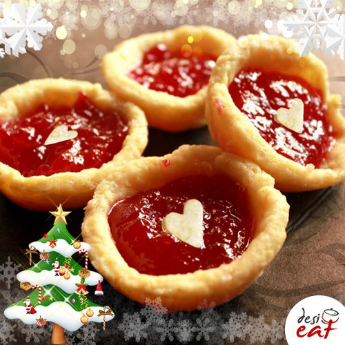Today we bring to you an easy-to-make dessert recipe for Jam Tarts adorned with Christmas colors for your special Christmas guests, http://bit.ly/DesiEatJamTarts, by Alice Gracias.   #Christmasrecipes #Christmasfood #Christmas2017 #Torontofoodie #Christmasiscoming #BlogTO  #JamTarts